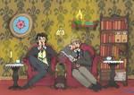 Sherlock and John relaxing at home by naturegirlrocks