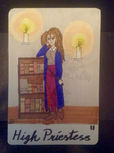 High Priestess, tarot card II by naturegirlrocks