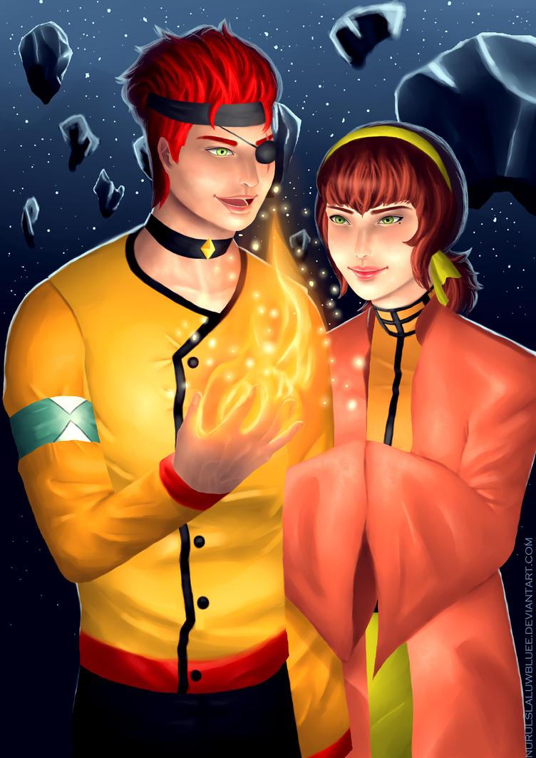 Nickolas and Raina by NurulSlaluwBluee