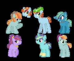 Rainbow Dash X Random Ponies Adopts OTA