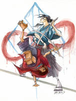Samurai Champloo by firecloud