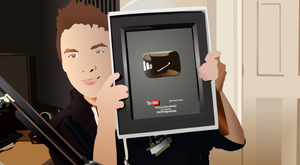 Jacksepticeye - 100,000 Silver Play Button