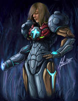 Samus Corruption by GlacierFusion