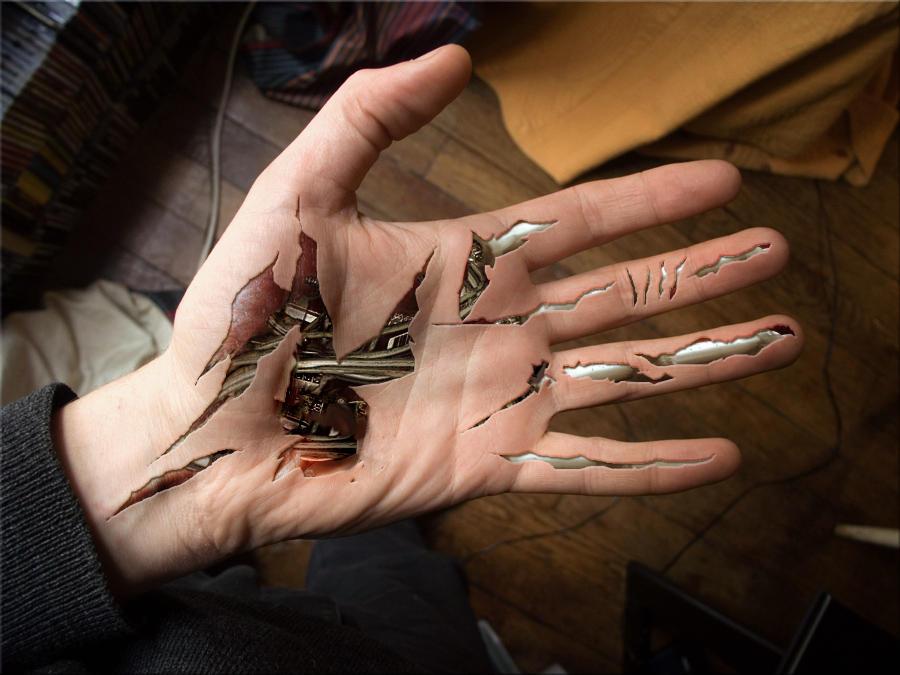 cyborg hand by Naikoivanenko