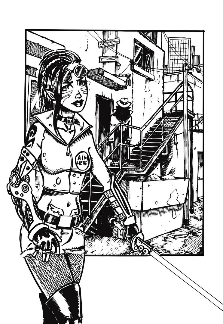 Cyber-alley-ink by Madd-og