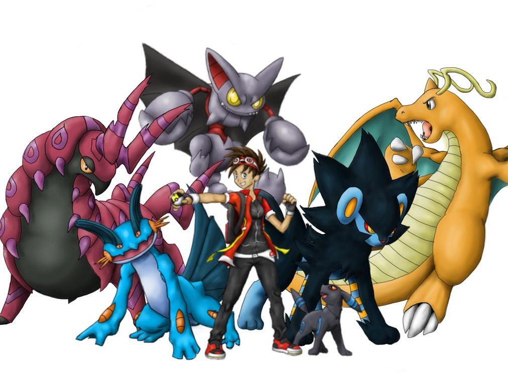 Pokemon team by air artist on deviantart