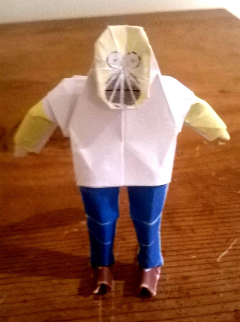 Origami Homer Simpson by WilliamClinch