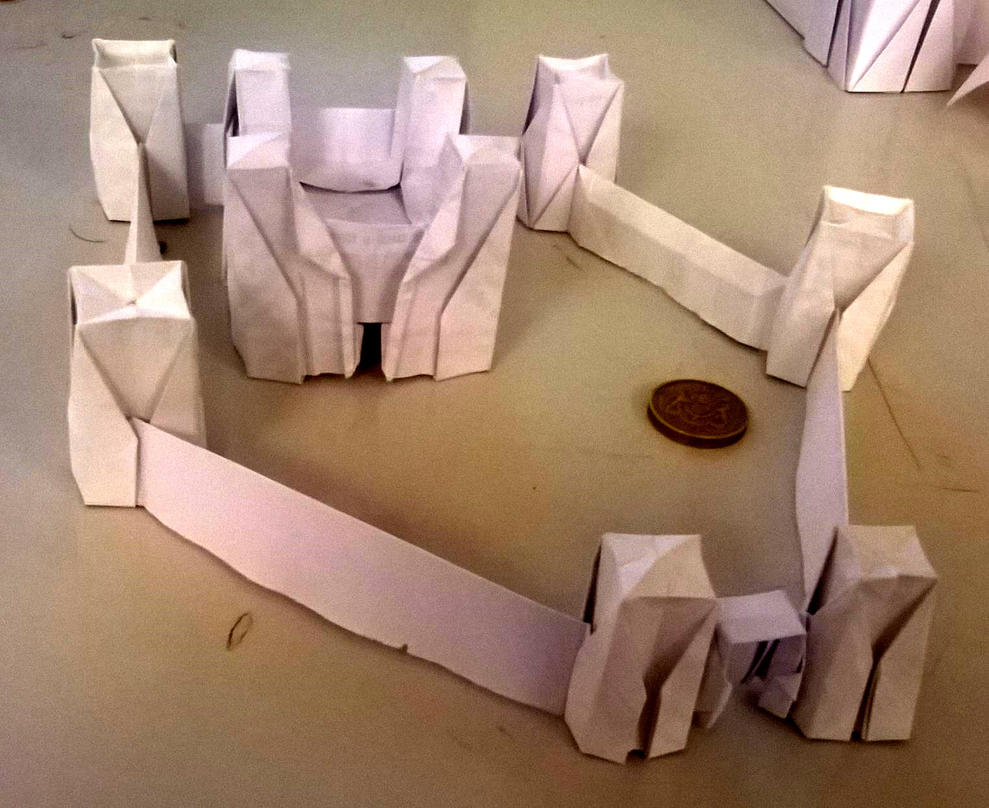 Small origami castle 2 by WilliamClinch