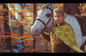 Glorfindel and Asfaloth by 0Snow-White0