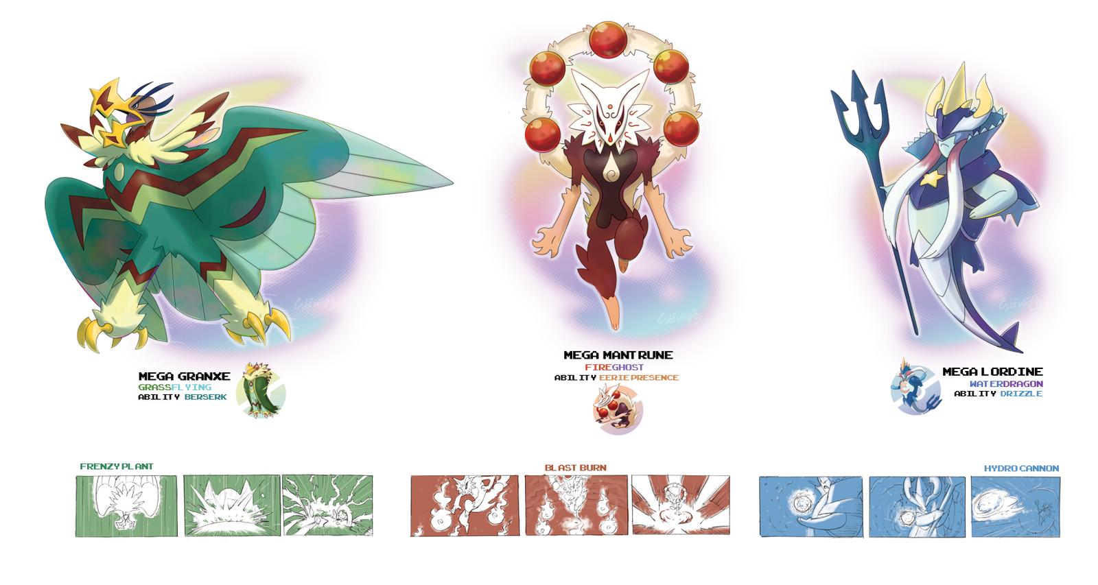 Starter Pokemon All Mega Evolutions Images | Pokemon Images