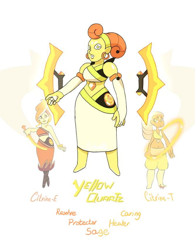 Gem fusion: Yellow Quartz by EstevaoPB