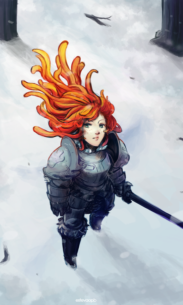 A flame in the snow by EstevaoPB
