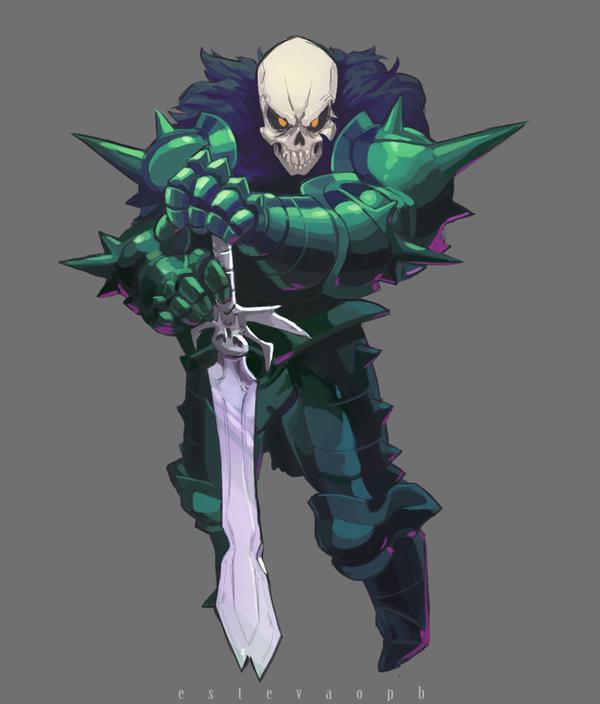 Skull-knight by EstevaoPB