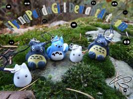 Totoro Phone Charms by FlyingPandaGirl
