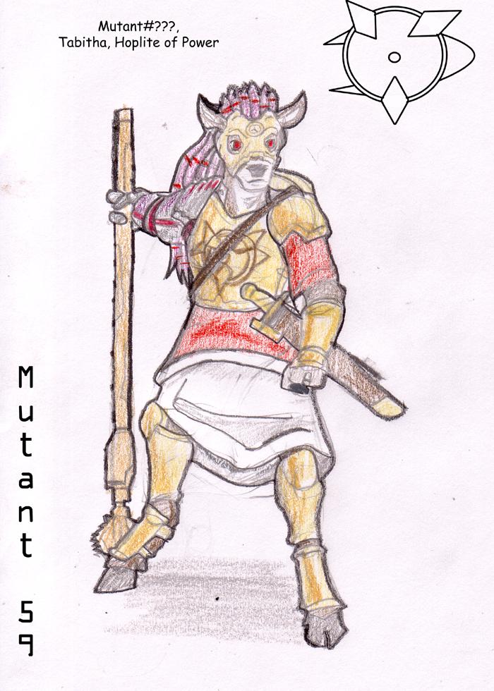 Tabitha, Hoplite of Power by Wrathofautumn