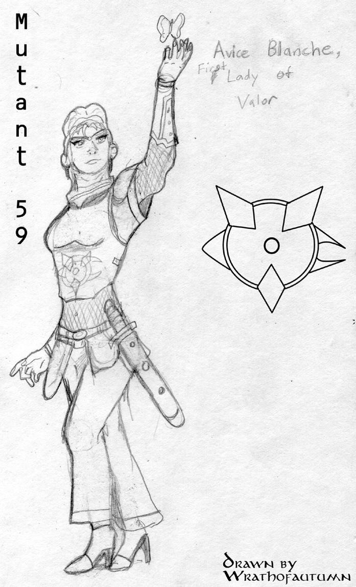 Avice Blanche, Lady of Valor by Wrathofautumn