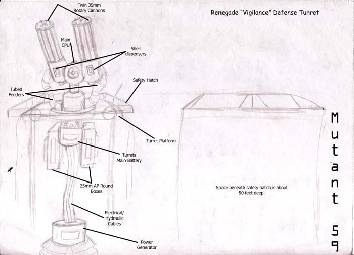 Renegade Defense Turret by Wrathofautumn