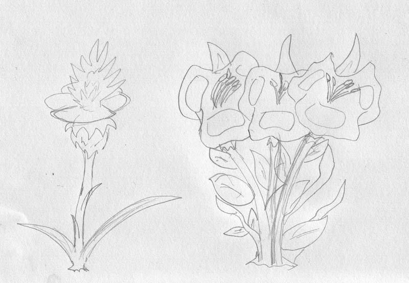 Tetsame Flowers WIP by Wrathofautumn