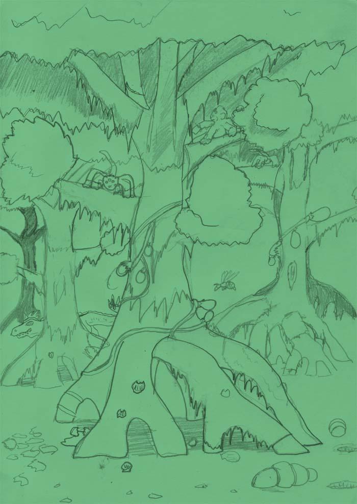 Drek-Ajikk Forest by Wrathofautumn