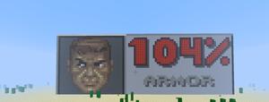Minecraft Art: Doom Guy