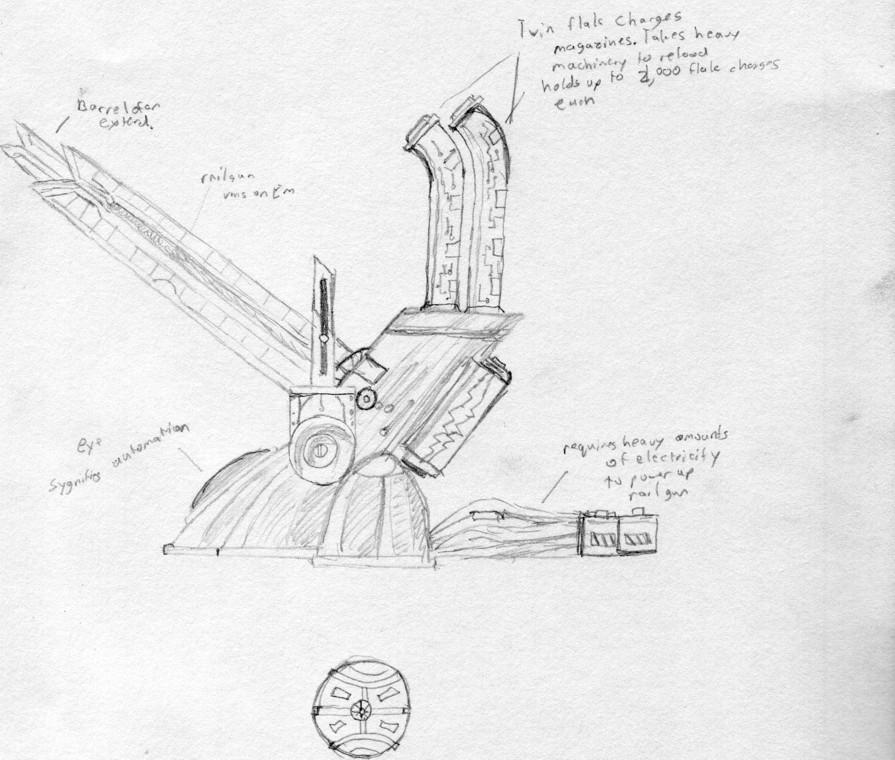Renegade aa gun. by Wrathofautumn