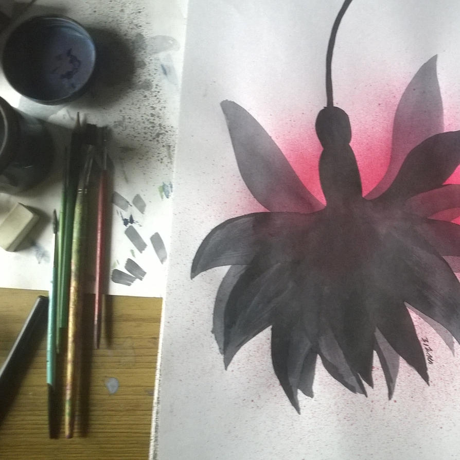 black fuschia by s-a-n-i-m