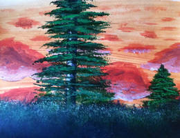 Forest Sunset by Lambieb123