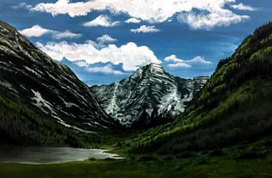Mountain Scenery by Lambieb123