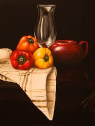 Three Peppers by LauraBarwick