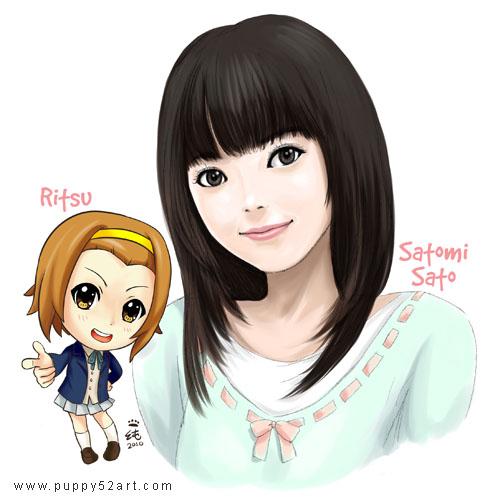 Ritsu and Satomi Sato fan art by chun52