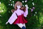 Saya and daisies :D