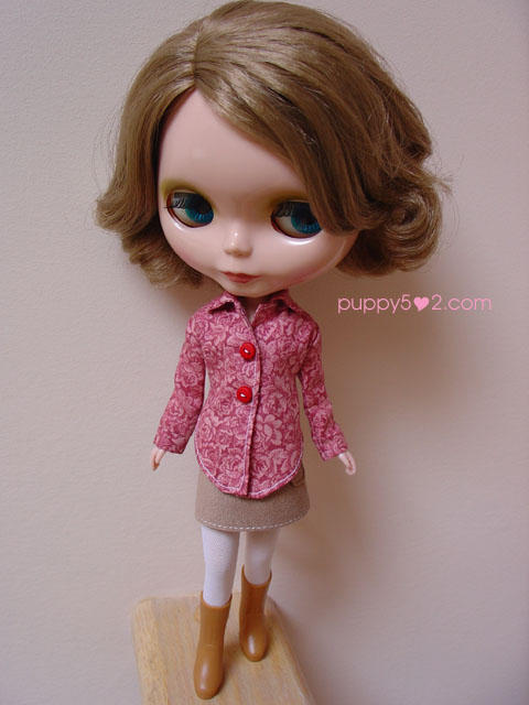 Collared Top for Blythe by chun52