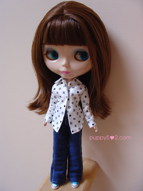 Collared Top for Blythe 2 by chun52