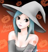 Grey Witch Girl by chun52