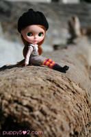 Belinda on a log by chun52