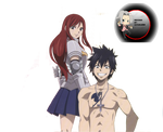 Fairy Tail Gray and Erza Render x3