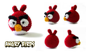 Red Angry Bird - Crochet