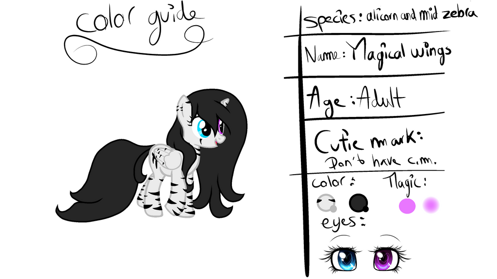 color guide of my oc by Magical-wings06