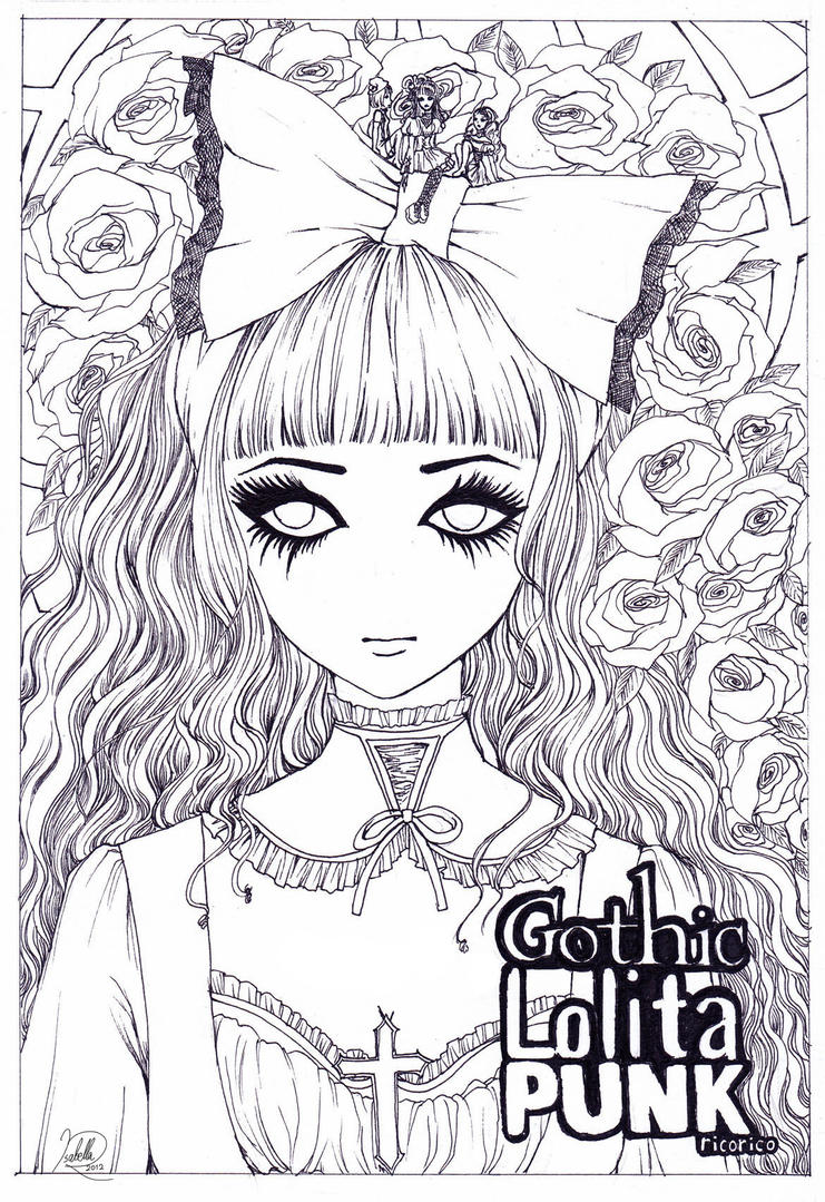 Gothic Lolita Punk by rossel-inni
