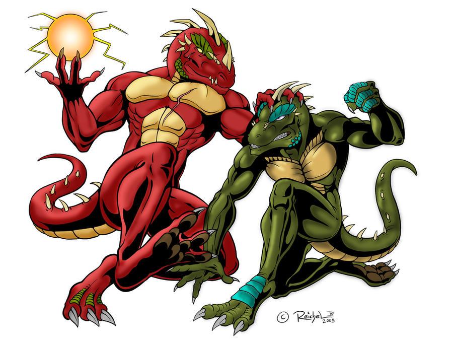 Cynrik vs. the Sorcerer by Atlantean6