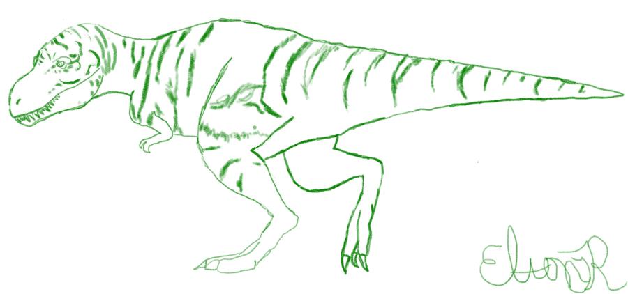 Copy Sketch of Tyrannosaurus by Nojan by Atlantean6