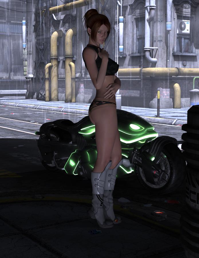 Sherri Posing in the Rain by Atlantean6