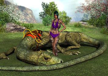 Barbarian and Bigauna by Atlantean6
