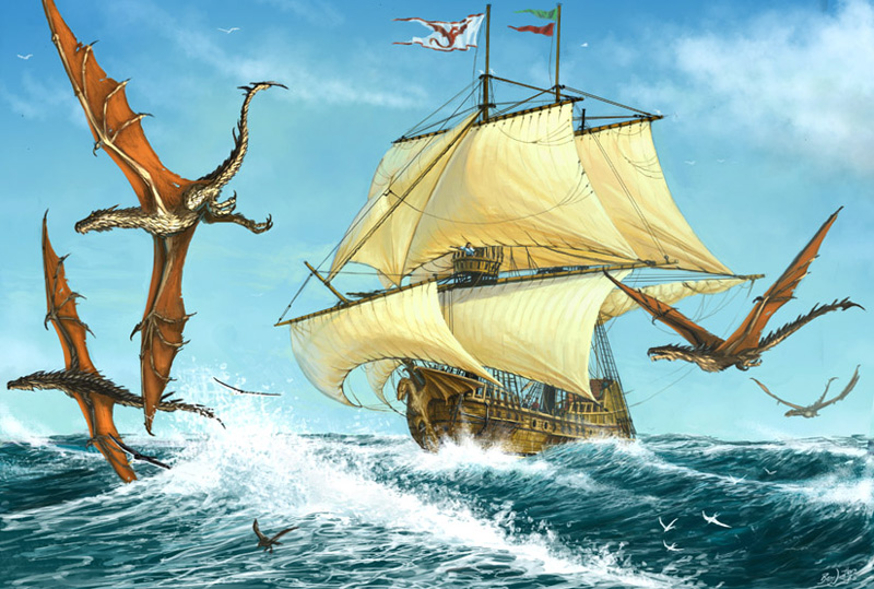 Sea Wyvern by BenWootten