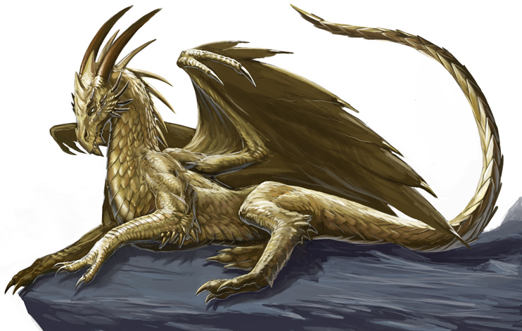 Tamira - The Dragoness of the Swamp (EW/SW Hybrid) Gold_dragon_by_benwootten
