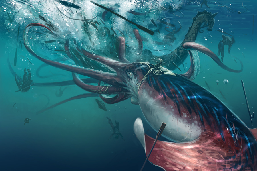 Kraken Attack by BenWootten