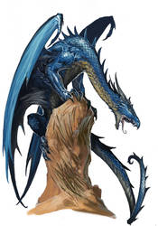 Young Blue Dragon by BenWootten