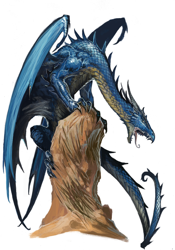 Thirahan, The Exotic. Young_blue_dragon_by_benwootten-d567ya5