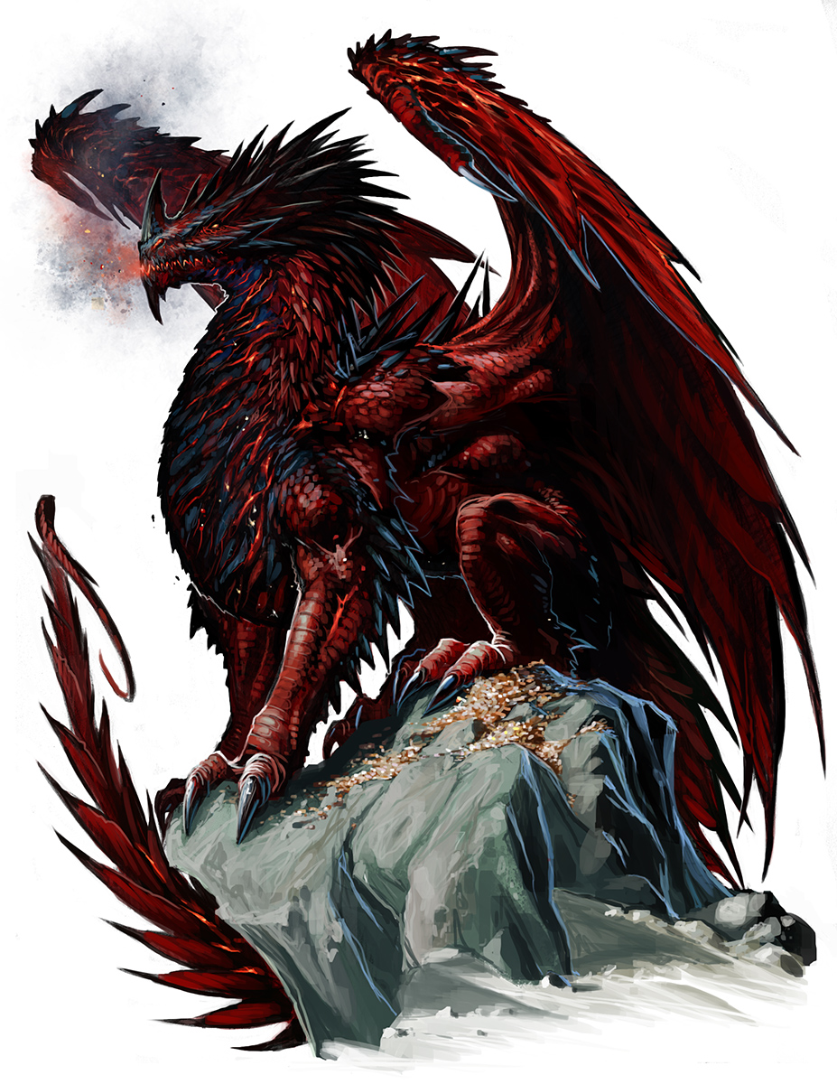 Ancient Red Dragon by BenWootten
