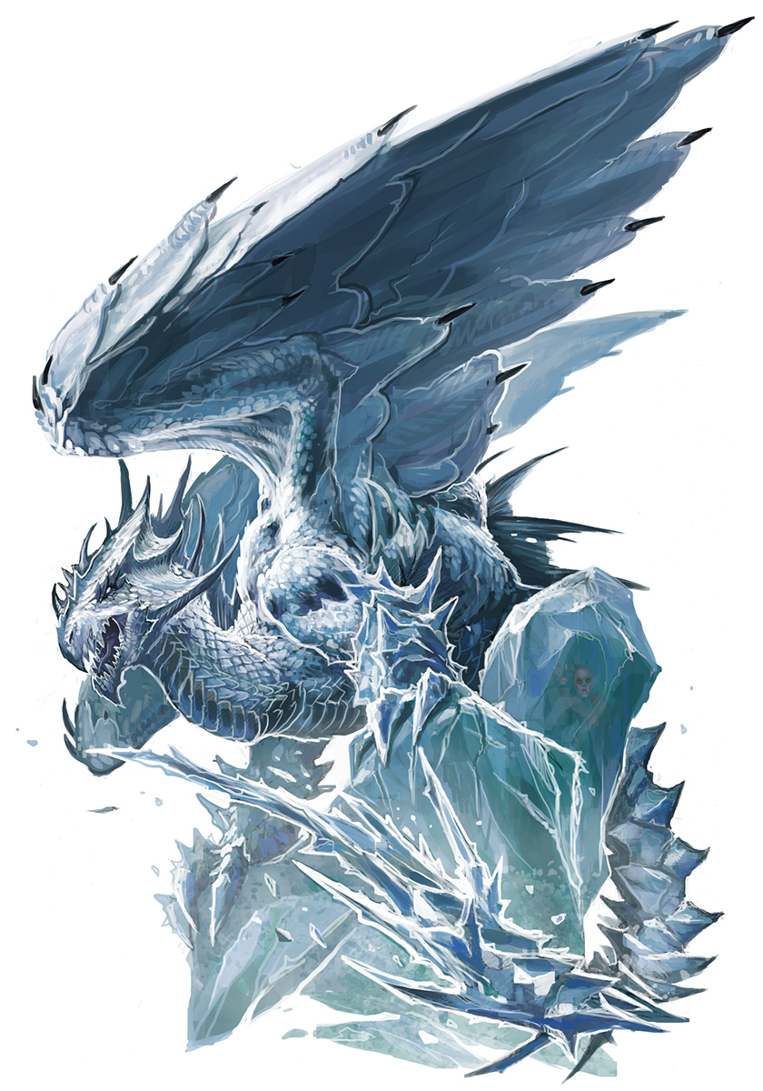 Ancient White Dragon by BenWootten